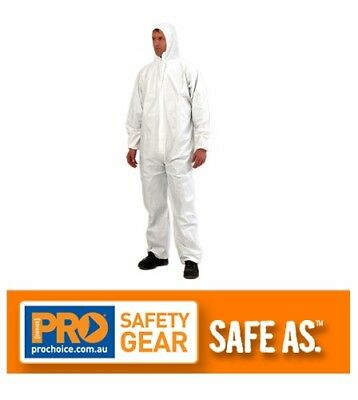 Provek Disposable Overalls (Type 5 & 6 - Waste Removal) Coveralls Safety