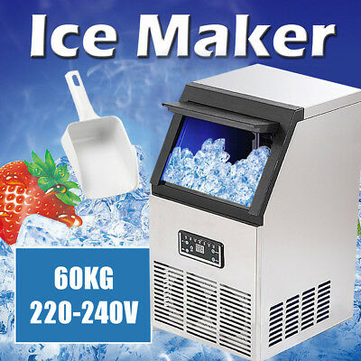 60kg 220-240V 270W Auto Commercial Ice Maker Cube Machine Stainless Steel Bar