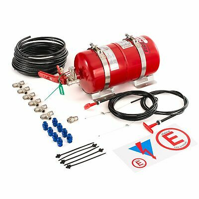 Lifeline Racing Firemarshal Mechanical 4.0 L Steel Bottle Fire Extinguisher Kit