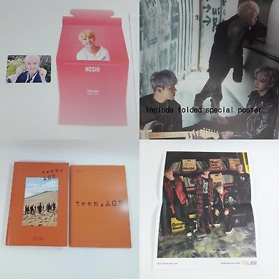 SEVENTEEN 2nd album Teen, Age CD Photobook Photocard Folded poster KPOP Orange h