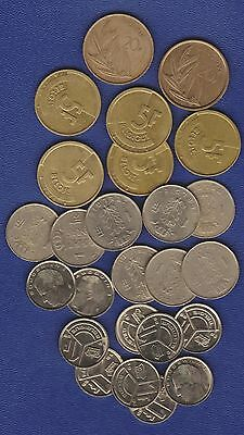 BELGIUM - BULK SET OFCOINS - 20F, 5F,1F for Collectors or Traveller's choice HV