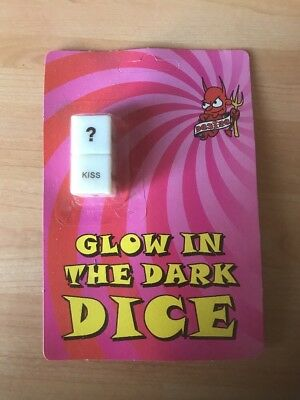 2 x Glow in the dark ADULT sex dice game