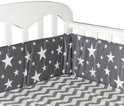 Bumpers In the Crib For Newborn Cotton Linen Cot Bumper Baby Bed Protector
