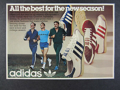 1976 Adidas Rom Vienna Shoes runners running photo vintage print Ad