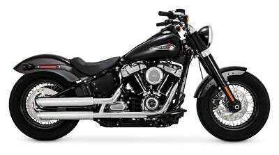 Vance & Hines Twin Slash 3 Inch Slip-On Mufflers Chrome Harley Softail 2018 M8