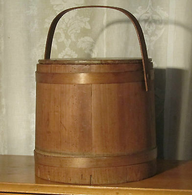 A 19th Century Pine Dairy Bucket or Milk Pail