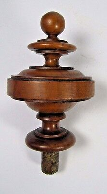Newel Post Finial: Antique French Wood Carved Finial Architectural Salvaged #2