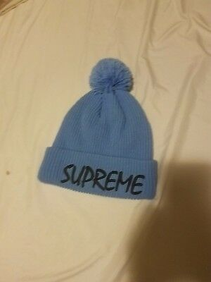 6cde34c7b43 BLUE SUPREME NEW Era pom beanie sample -  100.00