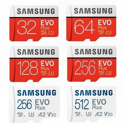 Micro SD Card SamSung Evo Plus 32GB 64GB 128G 256G Class 10 SDHC SDXC TF Memory