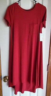 LuLaRoe  XS CARLY Solid RED - UNICORN NWT