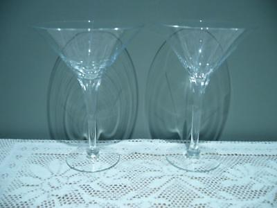 Krosno Hand Made Stunning Vintage Martini / Cocktail Glasses X 2 In Box - Vgc