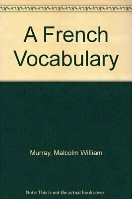 A French Vocabulary by Lentz, Emil Ernest Paperback Book The Cheap Fast Free