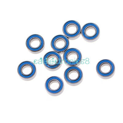 10PCS MR105-2RS Miniature ball Bearings with blue Plastic cover 5*10*4mm CA