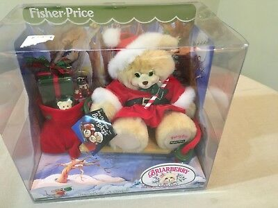 New Fisher Price Briarberry Collection Teddy Bear 1999 BERRYKRIS & SLEIGH Box