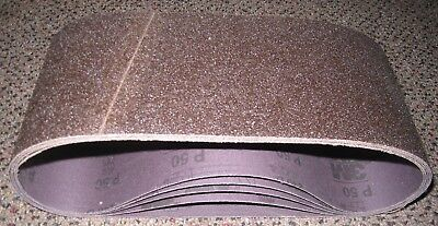 3M sanding belt 4 x 24 50 grit (Lot of 5)