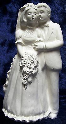Ready to Paint Ceramic Bisque- Wedding Bride and Groom Cake Toper