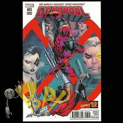 DEADPOOL (2015) #3 Rob LIEFELD Incentive Variant 1st Print MARVEL Comics NM!