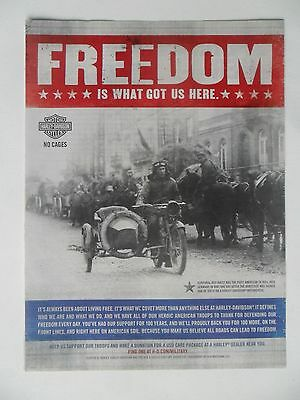 2011 Print Ad Harley Davidson Motorcycle ~ Freedom Is What Got Us Here