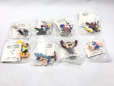 1990 Looney Tunes 8-PC NOS Shell Advertising Premium Cartoon Characters Bugs Taz
