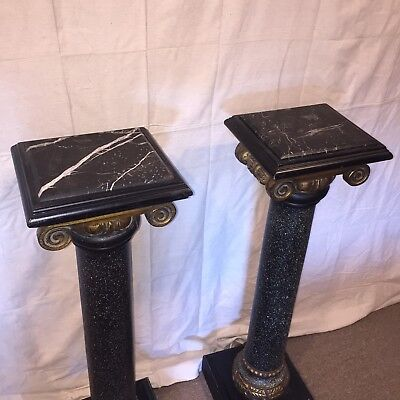 Antique Roman Gold Pedestal Column Pillar Display stand