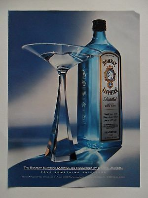 2000 Print Ad Bombay Sapphire Dry Gin Martini ~ Dakota Jackson Engineered