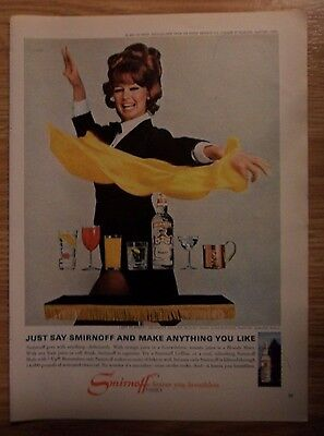 1967 Print Ad Smirnoff Vodka ~ Pretty Magician Girl Can Make Anything You Like