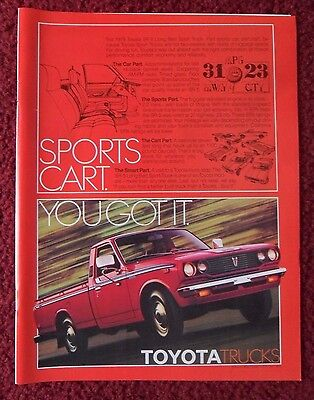 1978 Print Ad Toyota SR-5 Long Bed Sport Pickup Truck ~ Sports Cart