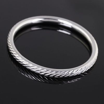 3pcs/Lot Charming Cuff bracelet stainless steel Women Fashion hollow Bangle 68mm