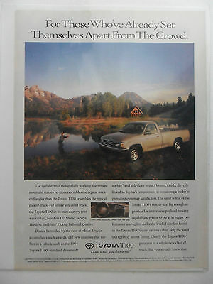1994 Print Ad Toyota T100 Car Automobile ~ Set Themselves Apart