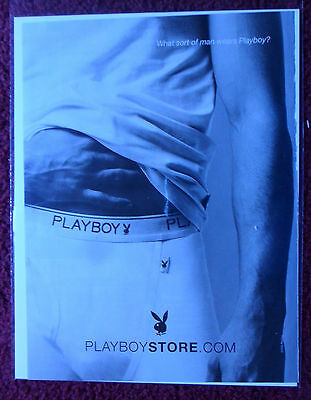 2005 Print Ad Playboy Fashions ~ Men's Briefs Underwear w/ Playboy Logo