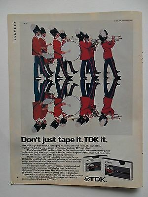 1984 Print Ad TDK Cassette Tape ~ Don't Just Tape It Marching Band