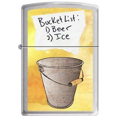 Zippo Bucket List Brushed Chrome Pocket Lighter