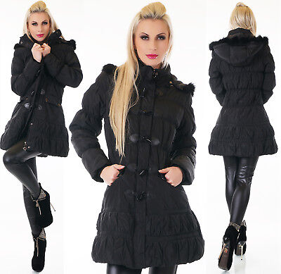 damen lang ballon winter stepp mantel kapuze parka coat 40 schwarz trench warm eur 1 00. Black Bedroom Furniture Sets. Home Design Ideas