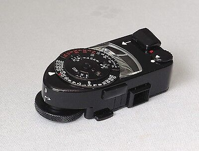 Leica Meter Mr-4 Rare Black Paint Fully Working & Minty!