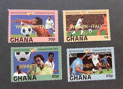 Ghana 1983 World Cup Football Championships SG1023/6 Winner Italy OP  MNH UM