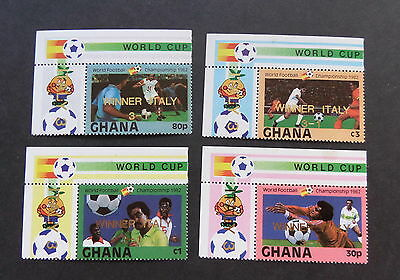 Ghana 1983 World Cup Football Championships SG1028/31 Winner Italy OP  MNH UM