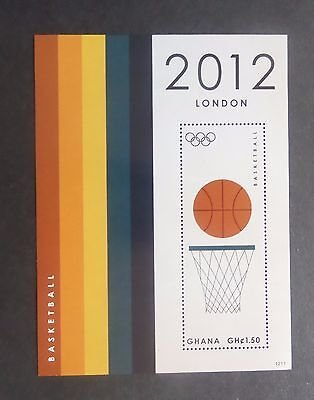 Ghana 2012 Olympics MS BasketBall MNH UM unmounted mint (M)