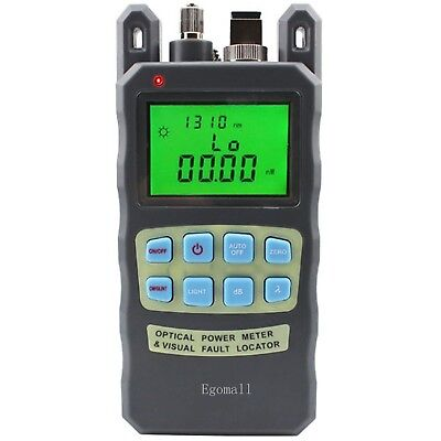 Egomall Fiber Optic Cable Tester -70 to +10dbm and 1mw 3.1mi Portable Optical...