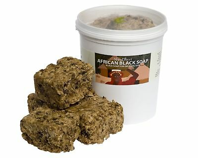 500g African Black Soap traditionally made using Unrefined Shea Butter Cocoa ...