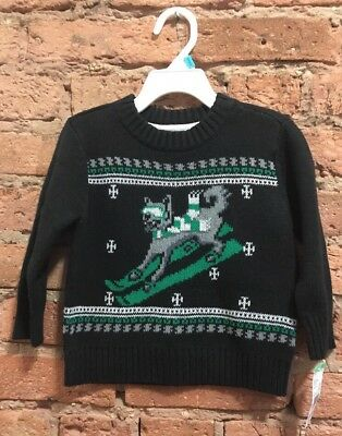 NWT Boys 18 Months Toughskins Crew Neck Christmas Sweater Winter