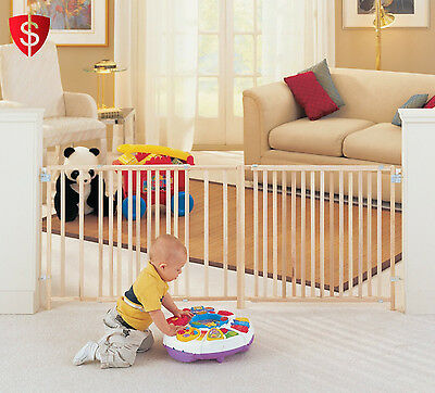 Baby Child Kids Toddler Safety Walk Thru Gate Save Fence Extra Wide Pet Gates