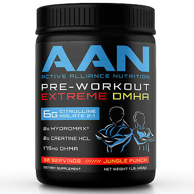 AAN Pre-Workout EXTREME DMHA  **VERY STRONG!!  **INSANE PUMP!! 30 Servings
