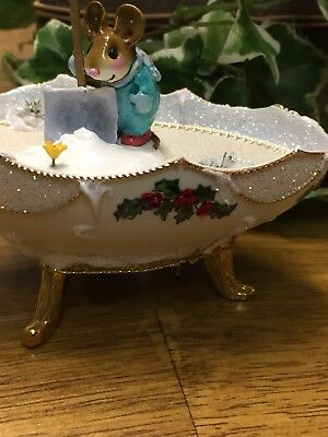 Wee Forest Folk M-390, Early Bloomer in Teal with beautiful Egg display!