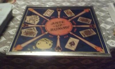 Vintage San Loo Chinese Checkers art deco look Ante Up Rummy on back USA