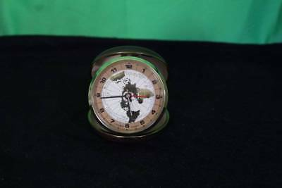 Vintage Linden Compact Travel Alarm Clock Watch Time Piece Vacation Antique