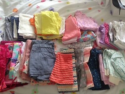 Bulk lot of girls' clothes - over 50 items - sizes 5 and 6