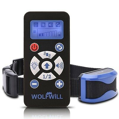WOLFWILL Waterproof Rechargeable Auto Anti Bark Remote Dog Training Collar7 L...