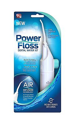 Power Floss Dental Water Jet As Seen On TV Teeth Cleaning Flusher Air Powered