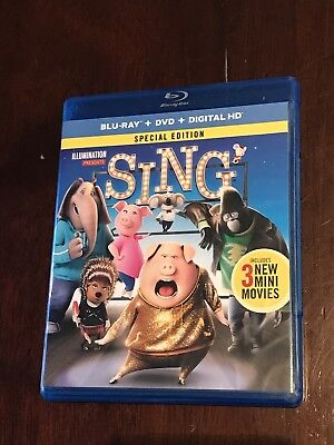 Sing (Blu-ray Disc ONLY, 2017) *No DvD or Digital* New - Never Used 2016