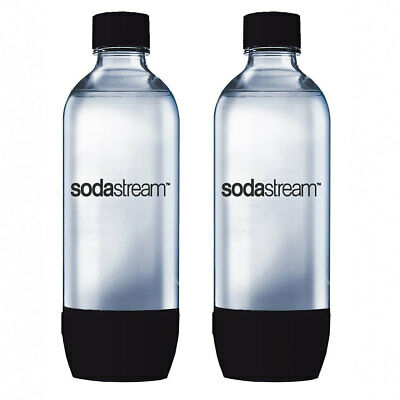 2x SodaStream Carbonating BK 1L Bottle for Drink Maker Source Metal/Play/Spirit
